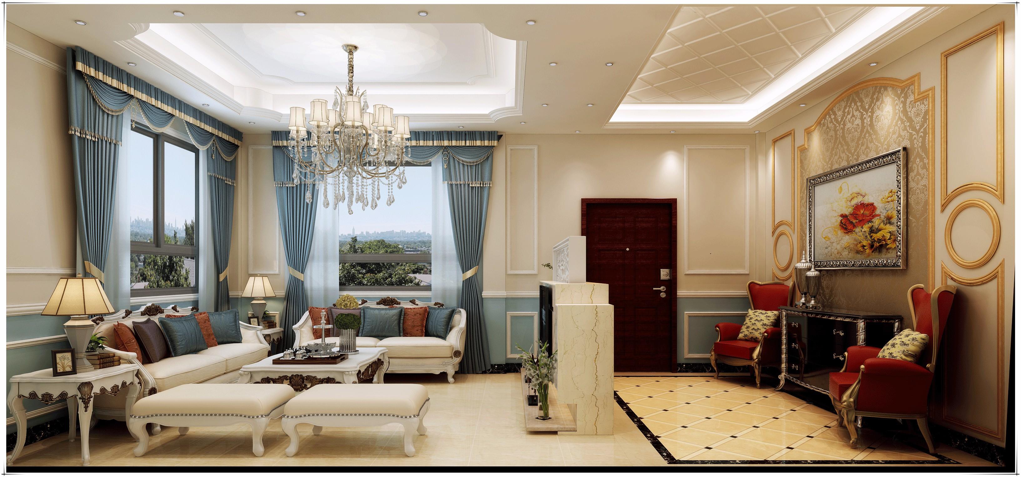 沙澳自建别墅 欧式风格
