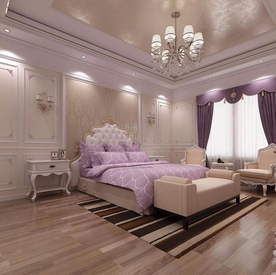 主卧家具颜色选用白色或流行色
